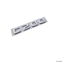 New Chrome ABS Rear Trunk Letters Badge Badges Emblem Emblems Sticker for Mercedes Benz C Class C200