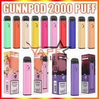 Punnpod 2000 Puffs Одноразовые Vape Pen E Cigarette Deivce с 1250 мАч 18350 батарея 8 мл POD PORPOD Vaporizer PORPOD стартер VS Elf