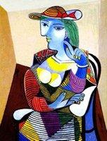 100% handgefertigte Ölgemälde-Reproduktion auf Leinen-Leinwand, Porträt de Marie-Therese Walter von Pablo Picasso, Museumsqualität