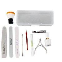 Nail Art Kits 12Pcs Set Kit Sand Files Buffer Sponge Block Brush Cuticle Pusher Gel Polish Set Nutrition Pen Manicure Tools