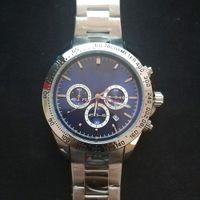 Satış erkek saatler patron kuvars hareketi izle tüm fonksiyonel küçük arama çalışma kronometre yaşam tarzı su geçirmez paslanmaz çelik kol saati montre de luxe