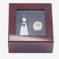 Sport Collectibles Rugby Ring Fantasy Football 10 cm Trofeo Boutique Display Box Regalo commemorativo