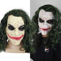 Maschera di lattice del clown del cavaliere scuro Batman Joker Joker Halloween Ball Cosplay circostanti