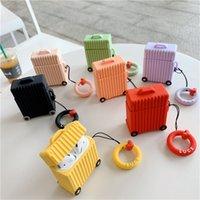 3D 귀여운 가방 여행 상자 안티 가을 헤드셋 보호 케이스 애플 AIRPODS에 대 한 부드러운 siicone 1/2 프로 블루투스 이어폰 커버 케이스