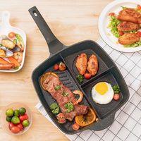 Tavalar 3-in-1 yapışmaz tava krep makinesi pişirme wok pot Kore tencere kahvaltı yumurta tava mutfak eşyaları
