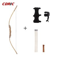 Good-quality Powerful Wooden Wood Bow With 3 Arrows And Quiver Kids Toy Wood Archery Bow DIY Set Kids Gift X0524