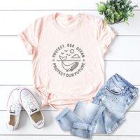 Women's T-Shirt Plus Size 5XL Cute Whale Print T Shirt Women Oversize Summer T-shirts Female Cotton Short Sleeve Tees Top Woman Casual Tshir
