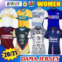 2021 Jersey Chivas Alternativo GD21 Dama Mulheres Futebol Jerseys 21 22 Home Away Terceiro Clube América Cruz Azul Guadalajara Uanl Tigres Futebol Camisas