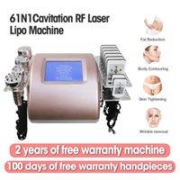 6 In 1 Ultrasone Cavitatie Vet Afslanken Machine 5 Hoofden Lipo Laser 40K Radio Frequentie Huidverstrekken Schoonheidsapparatuur Hoge kwaliteit Aanpassen Logo Voorraad in VS.