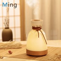 140ml Essential Oil Diffuser Aroma Cold Mist Humidifier With LED Soft Light, Bag Shape, USB Adjustable Nano Humidifiers