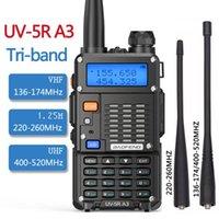 UV-5R A3 TRI-BAND 5W Walkie Talkie 136-174MHz / 220-260MHz / 400-520MHz Presunto Transceptor de Rádio III BF-F8HP