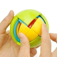 FIDGET 장난감 7cm 3D 지능 퍼즐 미로 공 두뇌 티저 게임 아이들을위한 아이 훈련 논리 어린이 장난감 크리스마스 선물