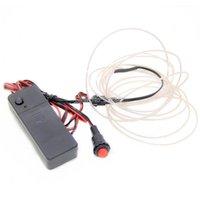 شرائط 3 متر (2.3 ملليمتر) el wire + 3 فولت بطارية العاكس مع زر دفع + مزيج النظام المتاحة