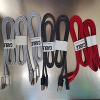 1m Noodle Braided Type-C Cell Phone Cables Micro USB 2.0 Sync Data Charging Cord for Samsung