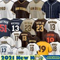 23 Fernando Tatis Jr. Jersey San Diego 13 Manny Machado Trevor Hoffman Jake Cronenworth Jurickson Profar Baseball Tony Gwynn Trent Grisham