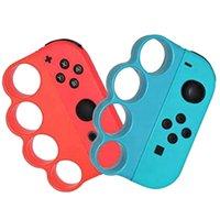 Портативный левый / правый бокс фитнес игровых игр застежка пальцев ручной ручка для переключателей игры-2 пакета игровые контроллеры джойстики