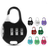 Novidade Itens Color Mini Cadeado para Mochila Mala de Artigos de Papelaria Password Lock Student Crianças Security HWD5804
