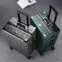Bavul, Evrensel Tekerlek, Arabası, Şifre, Bagaj, Erkek ve Kadın Alüminyum Çerçeve