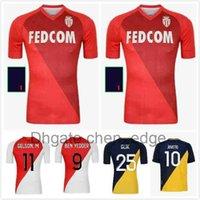 Como Monaco Maillots de Foot Ben Yedder Futebol Jerseys 2021 2022 Glik Jovetic Gelson Fofana Tchouameni Keita Balde Camisa de Futebol