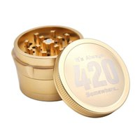 Aircraft Aluminum Alloy Grinder 420 Logo Herb Grinders for Dry Herbal Smoking Tools 4 Layers 63mm Spice Crushers DHL