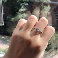 Simulation Diamond Ring Female 6wedding Engagement Jewelryclaw Love Inlaid with Zircon Wedding 30 925 Platinum Plated 7TX958
