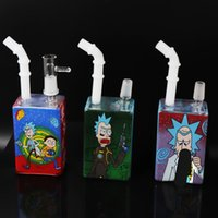 Glass Bong Juice Box Smoking Water Pipe Hookah Oil Rig Shisha Pipes Dab Beaker Bubbler W  ICE Catcher Bongs Hookahs