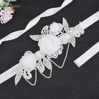 Wedding Sashes TOPQUEEN S499 Bridal Sash Belt Bling Belts For Women Formal Dress Flower Beaded Dresses Saree Kids