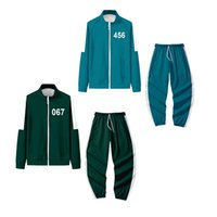 Halloween Cosplay Coat Squid Game Costume Sportswear Jacket 456 Digital Sweater 001 Shirt Zipper Clothes Set Dropshipping