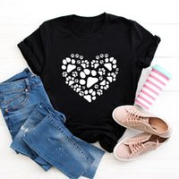 Summer Cotton Women T Shirt S-5XL Plus Size Short Sleeve Heart Bear Print Tees Top Casual Loose Simple O-Neck Female TShirts Women's T-S T-S