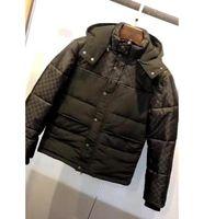 2021 Fransa Son Sonbahar Kış Ceketler Kamuflaj Deri Kollu Rahat Yüksek Kaliteli Moda Erkek Kadın Hoodie Yabani Üst Siyah