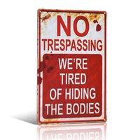 Pas d'intrusion Métal Tin Signe Art Poster Bar Pub Club Accueil Décoratif