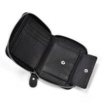 Portefeuille mode portefeuille en cuir véritable portefeuille avec sac de monnaie zipper petite monnaie sac à main dollar sac à main conception réel vachette de vachette