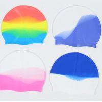 غطاء سباحة بالجملة متعدد الألوان للجنسين سيليكون للشعر الطويل للماء الغوص كاب المهنية السباحة قبعة الاستمرار شعر الكبار الجافة G3367IC