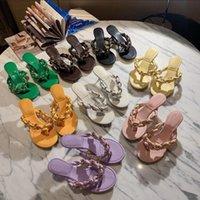 Tasarımcı Kadın Sandalet Moda Plaj Sandal Düz Slaytlar Flip Flop Dokuma Terlik Kadın Tasarımcılar Kutu Boyutu Ile Kadın Tasarımcılar Silde 35-41