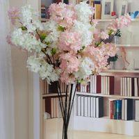 Simulation Cherry Blossom Branch Artificial Flower Fake Plant Wedding Decoration Home Party Garden Decor Spring Decorative Flowers & Wreaths