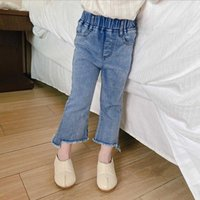 1-8Y Children Jeans Denim trousers Baby Girls Top Quality Casual Pants Kids Clothing Spring Flared 210529
