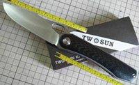 TwoSun Knives Outdoor 14C28N Titanium Fast Open Pocket Folding Knife TS305-14C