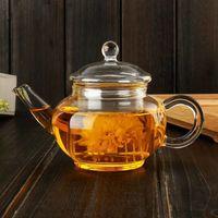 جديد 250 ملليلتر جودة عالية مقاومة للحرارة البورسليكات الزجاج إبريق الشاي فلات الداخلية شاي غلاية الكونغ فو الشاي القهوة وعاء بالجملة ovo5s 568 v2