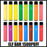 엘프 바 1500 퍼프 일회용 전자 담배 vape 펜 4.8ml 2 % 미리 치기 카트리지 포드 장치 850mAh 배트 조정 기화기 엘프 바 괴짜