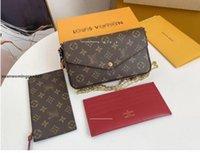 """1-22 GG """"LV"""" LOUIS ... Bolsas Vutton3PCS Set Luxury Brand Louisbags_18 Mujeres Bolsas de diseñador Bolsos Crossbody Handbag Bolsos Walle Ki"""