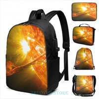 Backpack The Sun, Solar Prominince Detail, Flare, Space USB Charge Men School Bags Women Cosmetic Bag Travel Laptop