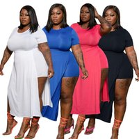 Casual Dresses Women Summer Short Sleeve High Waist With Shorts Dress Plus Size Wholesale
