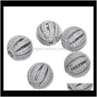 10mm Bolas de sandía Micro Zircon Separador suelto Artesanía European CZ Beads para el encanto Pulsera Collar Moda DIY Joyería Haciendo Y4KMO B C2NHL