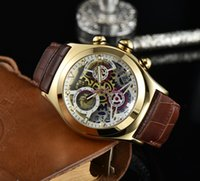Relógios de marca suíços de alta qualidade para homens relógio de quartzo faixa de couro pequeno Move impermeável relógios de designer orologio di lusso