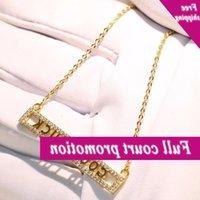 Neue Kollektion Luxus Schmuck 925 Sterling Silber Gold Fill Lucky Hanger verspricht AAA Zirkonia-Kette für Frauen