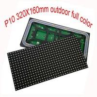 고휘도 풀 컬러 비디오 벽 모듈 320x160mm 크기 HUB75 인터페이스 P10 방수 Shenzhen LED 디스플레이에서 만든