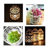 PCS Vela Soportes de luz Metal Colgando Hollow Birdcage Linterna Vintage Centros decorativos de la fiesta de bodas