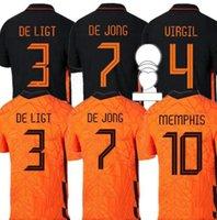 2021 Memphis Jerseys Netherlands Soccer-Hemd Jong Holland de Ligt Strootman van Dijk Virgil 2022 Sootball Erwachsene Männer + Kids Kit