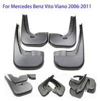 4 stücke Echtwagen Schlammklappen für Mercedes Benz Vito Viano 2012-2020 GLK200 GLK260 2009-2020 GLK Klasse X204 2008-2018 Kämpfer schwarz