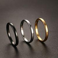 Женские кольца вольфрама свадьбы свадебные полосы милые 2 мм 3 мм три цвета равнины глянцевый карбид кольцо для девушки размером в США 6-11